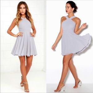 NEW! Lulu's forevermore skater halter mini dress